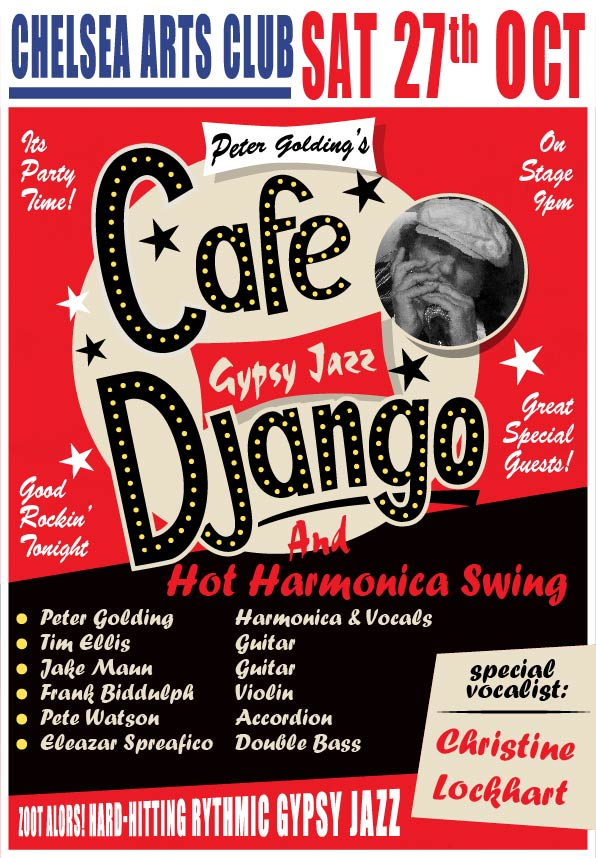 cafe django gig poster 27 oct 2018