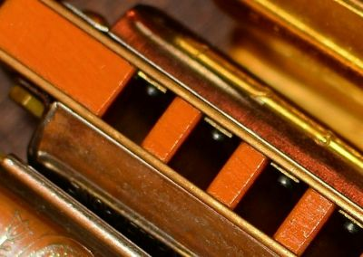 close up harmonica