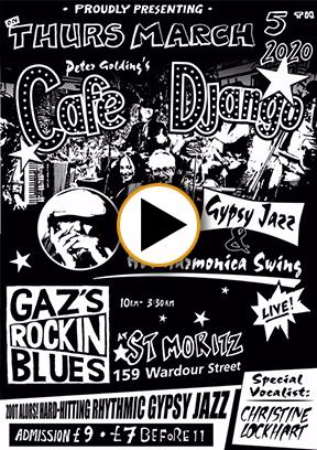 Peter Golding's Café Django - Gazs Rockin Blues